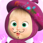 Masha and the Bear: Free Coloring Pages for Kids 1.7.2 MOD APK