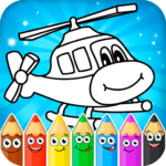 Coloring pages for children : transport 1.1.9 MOD (Unlimited Money)