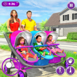New Mother Baby Triplets Family Simulator  1.2.0 MOD