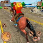 Mounted Horse Riding Pizza Guy: Food Delivery Game 1.0.5 MOD