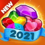 Addictive Gem Match 3 – Free Games With Bonuses 5.4.9 MOD (Unlimited gift)