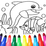 Dolphin and fish coloring book 16.3.2 MOD