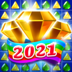 Jewel & Gems Mania 2020 – Match In Temple & Jungle 8.8.6 MOD (gold coins)